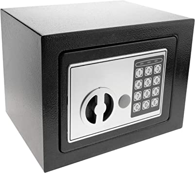 PrimeMatik - Caja Fuerte de Seguridad de Acero con código electrónico Digital 23x17x17cm Negra (BY030): Amazon.es: Bricolaje y herramientas