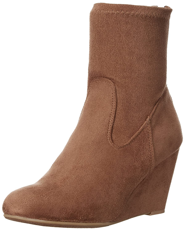 Chinese Laundry Women's Upscale Wedge Boot B01ETUOGGU 5 B(M) US|Camel Suedette