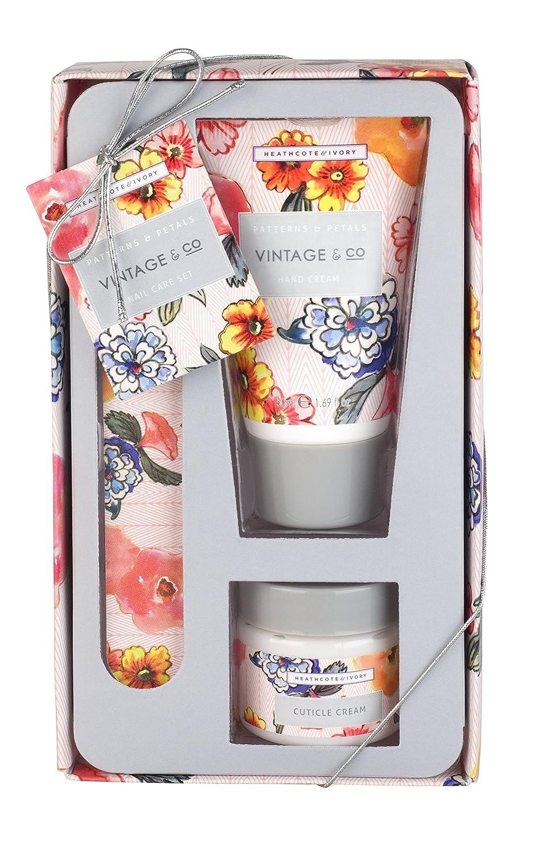 Vintage & Co Patterns and Petals Nail Care Set Heathcote & Ivory FG3005