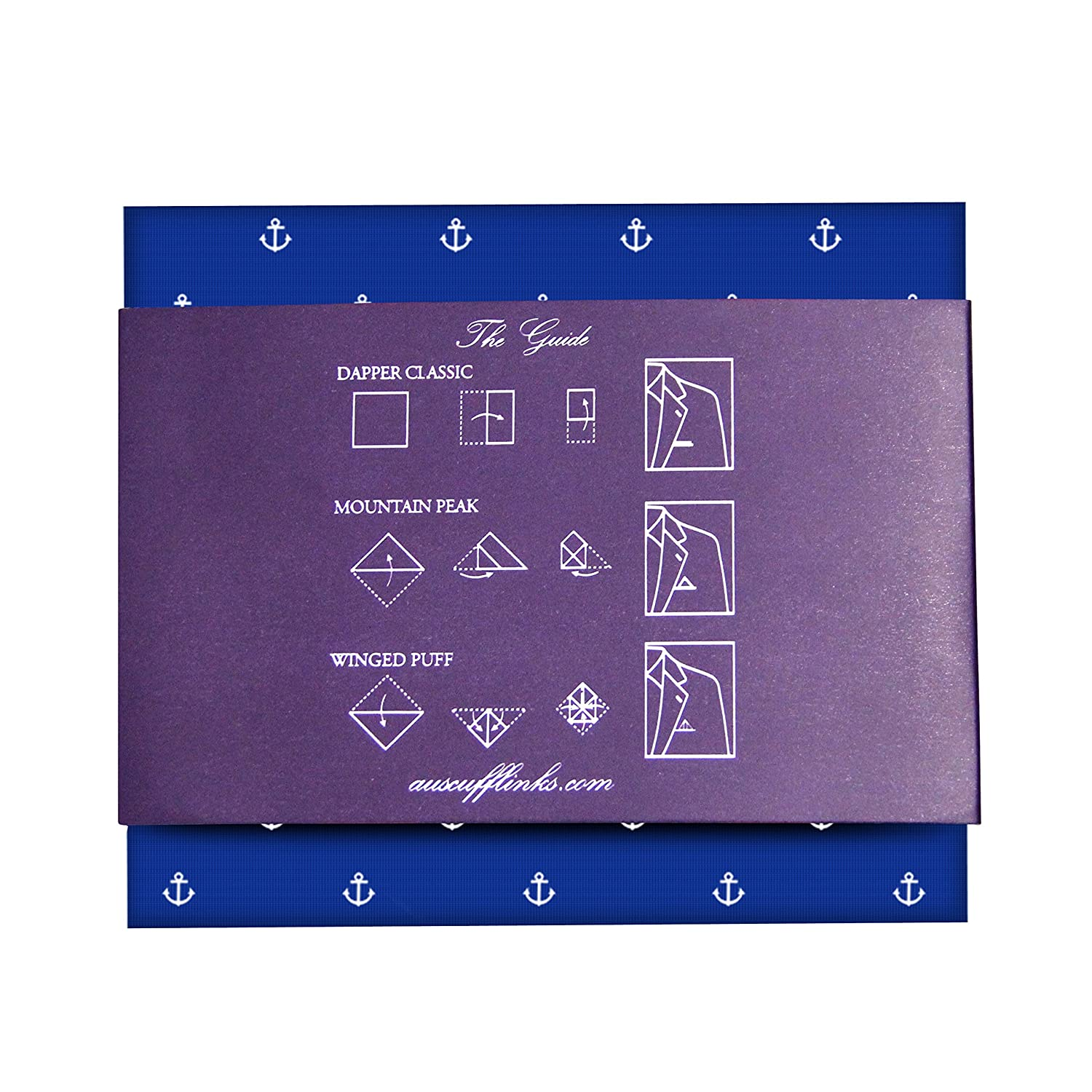 Groomsmen Accessories 5 Year Warranty Anchor Pocket Square Gifts for Men