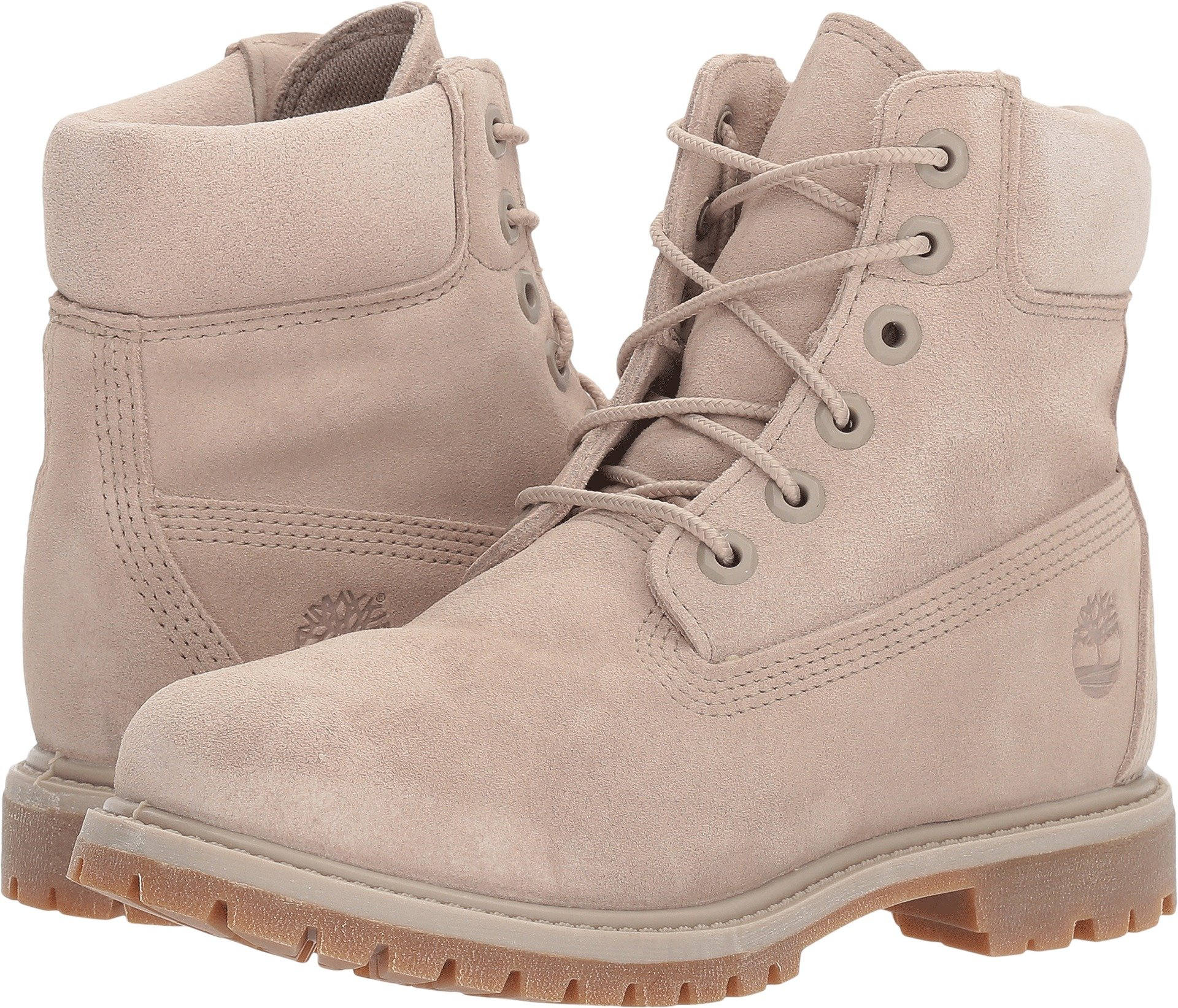 Timberland Womens 6'' Premium Boot Simply Taupe Suede 8 B - Medium