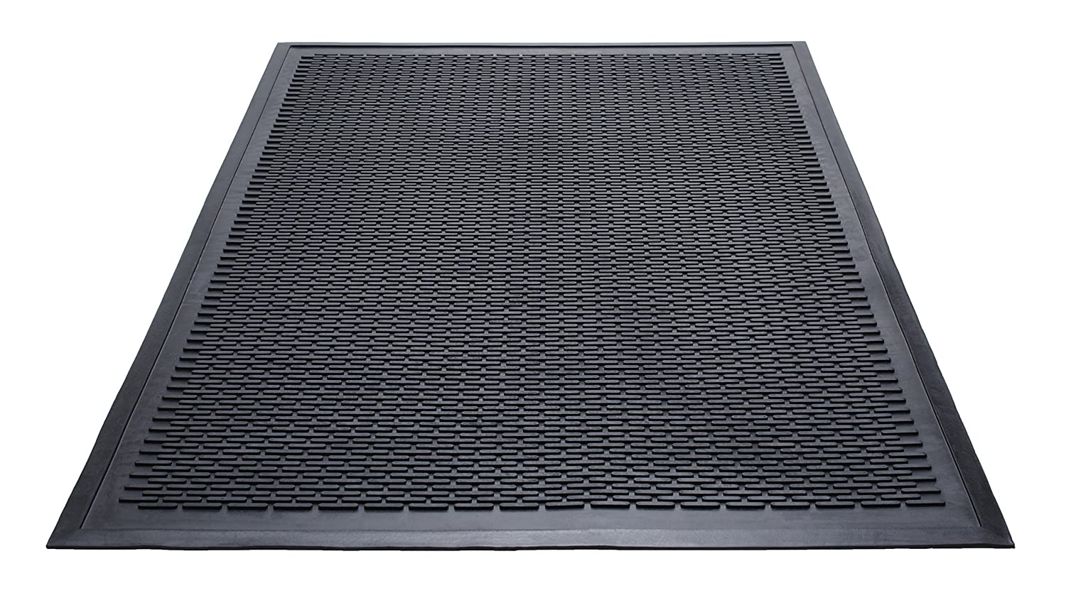Guardian Clean Step Scraper Outdoor Floor Mat, Natural Rubber, 3'x5', Black, Ideal for any outside entryway, Scrapes Shoes Clean of Dirt and Grime 3'x5' Millennium Mat Company MLL14030500