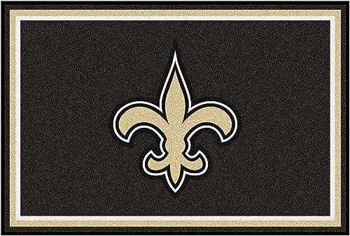 FANMATS 6591 NFL New Orleans Saints Nylon Face 5X8 Plush Rug,Team Color,60 x92