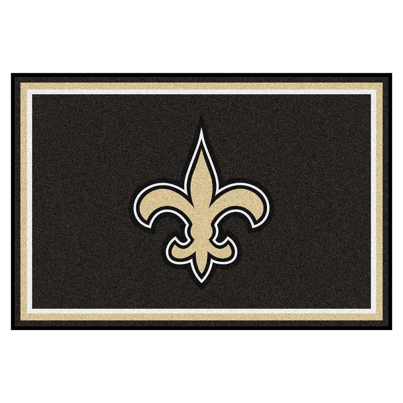 FANMATS NFL New Orleans Saints Nylon Face 5X8 Plush Rug