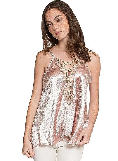 e715767bf4e8fe Amazon.com  WET SEAL BOUDOIR SATIN CAMI TANK TOP  Clothing
