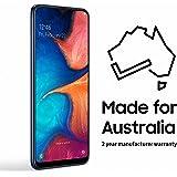 Samsung Galaxy A20 32GB Smartphone (Australian Version) with 2 Year Manufacturer Warranty, Dark Blue