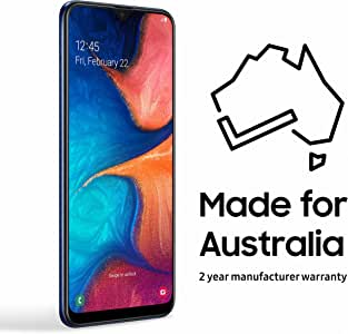 Samsung Galaxy A20 32GB Smartphone (Australian Version) with 2 Year Manufacturer Warranty, Dark Blue