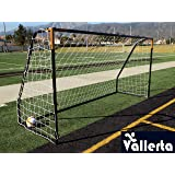Vallerta Premier 12 X 6 Ft. AYSO Youth Regulation Size Soccer Goal w/Weatherproof 4mm Net. 50MM Diameter Black Powder Coated/Corrosion Resistant Frame. 12x6 Foot Practice Aid(1Net) ONE Year Warranty!