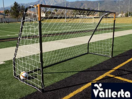 21939a999c1 Vallerta Premier 12 X 6 Ft. AYSO Youth Regulation Size Soccer Goal w Weatherproof  4mm Net. 50MM Diameter Black Powder Coated Corrosion Resistant Frame.