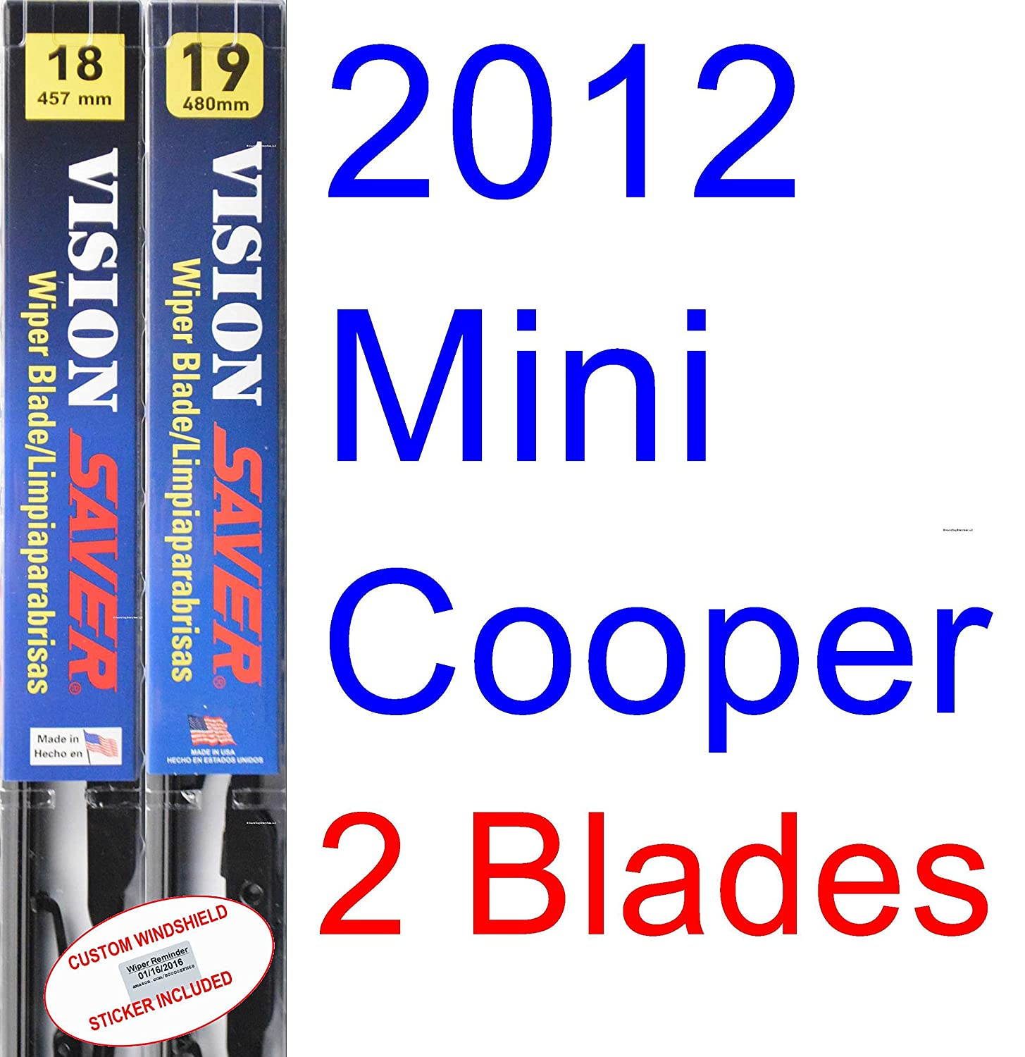 Amazon.com: 2012 Mini Cooper Coupe Wiper Blade (Driver) (Saver Automotive Products-Vision Saver): Automotive