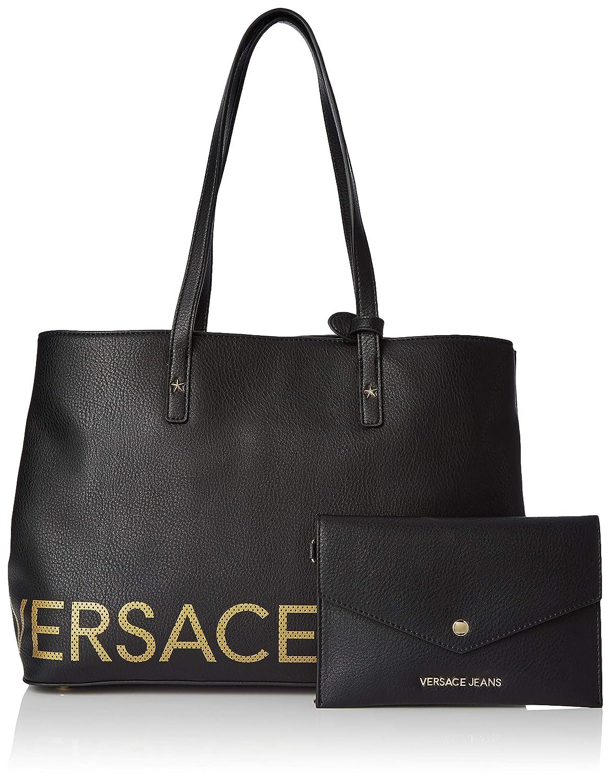 Amazon.com  Versace EE1VTBBB1 E899 Black Tote Bag for Womens  Shoes 08c4d7c4f9281