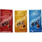 Lindt Lindor Chocolate Truffles 3 Flavor Variety Pack: (1) Lindt Lindor Milk Chocolate Truffles, (1) Lindt Lindor Caramel Milk Chocolate Truffles, and (1) Lindt Lindor Sea Salt Milk Chocolate Truffles, 5.1 Oz. Ea. (3 Bags Total)