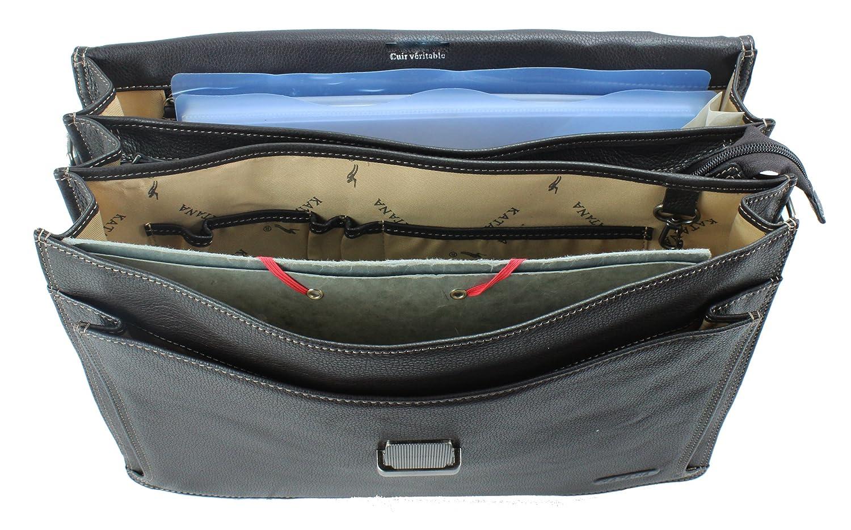 a2ad8bbeec Frédéric Johns® - Cartable en cuir - sac business - cartable cuir - porte  documents