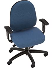 """Bevco 6001A5-4550S/5 Advanced Ergonomic Deluxe Chair with Casters, Tilt Back Adjustment, 18"""" to 23"""" Height Adjustment, Blue"""