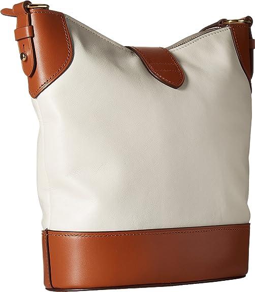 47ebd09d35 LAUREN Ralph Lauren Women s Dorrington Caden Large Crossbody Vanilla Latte  Crossbody Bag  Amazon.in  Shoes   Handbags