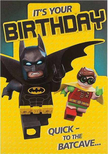 Hallmark – Tarjeta de Lego Batman Cumpleaños Tarjeta a la ...