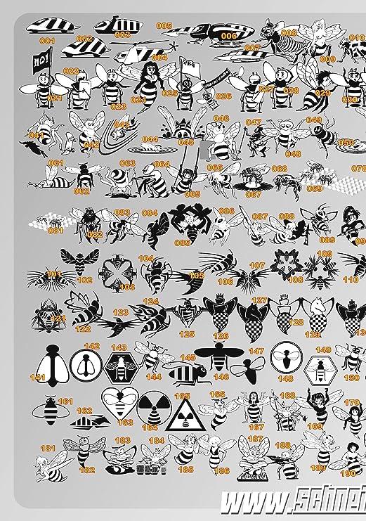 schneidme ister Beeline, 200 exclusiva Vektor Diseños de producción de abejas CD-ROM para plóter, plantillas, pared Tatuajes, Rótulos y mucho más. Just Graphics to make Money from