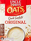 UNCLE TOBYS Oats Quick Sachets Original, 10 Sachets, 340g