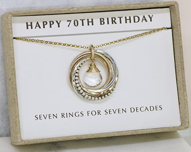 Amazon 70th Birthday Gift April Birthstone Jewelry For Rock Crystal