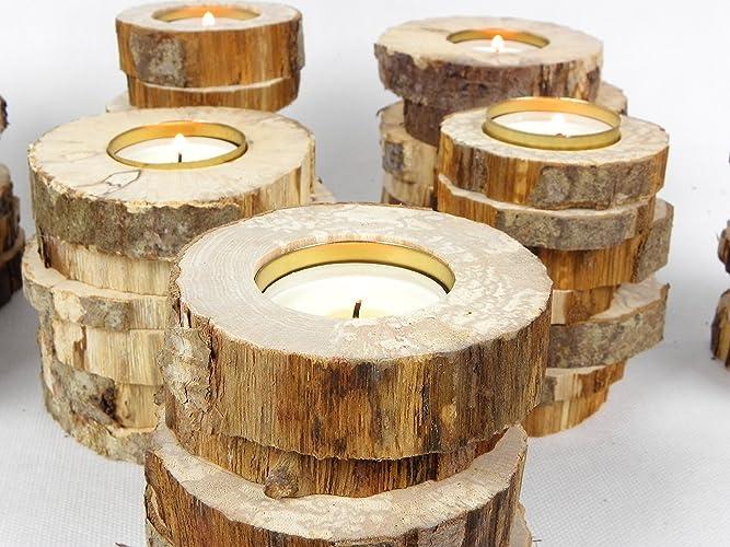 12 rustic wood candle holders rustic wedding decorations wedding 12 rustic wood candle holders rustic wedding decorations wedding candle holders 12 wooden junglespirit Choice Image
