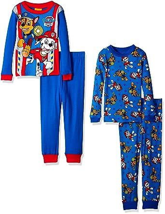 1e43d3b1dc Amazon.com  Nickelodeon Boys  Paw Patrol Toddler 4-Piece Pajama Set ...