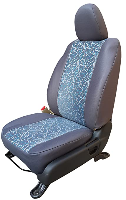 Autofact Jacquard Fabric Car Seat Covers For Hyundai Santro Xing Grey
