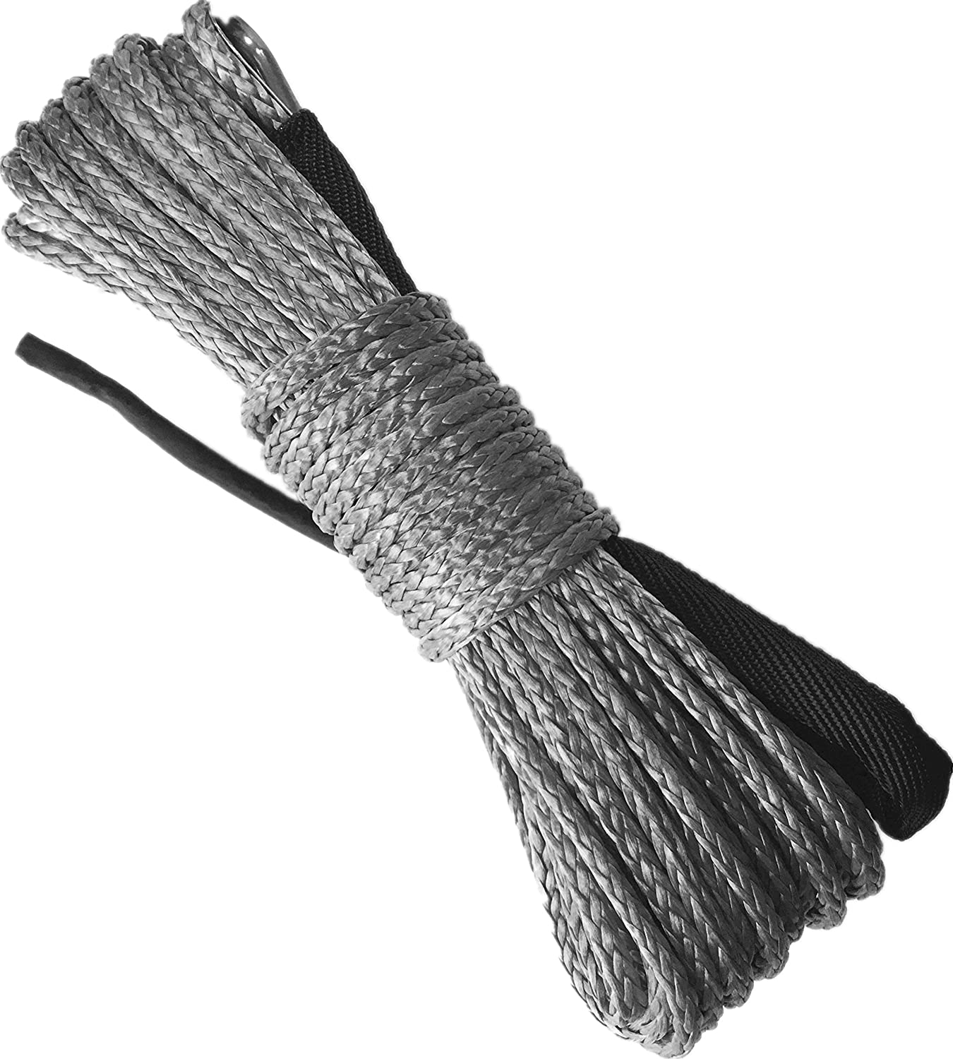 X-BULL SK75 1//4 x 49/' Dyneema Synthetic Winch Rope (10000LBS)(Gray)