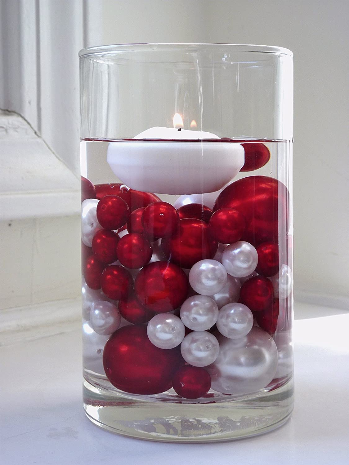 Amazon 2 packs jumbo assorted sizes all red pearls vase amazon 2 packs jumbo assorted sizes all red pearls vase fillers value pack for centerpieces to float the pearls order the transparent water gels floridaeventfo Images