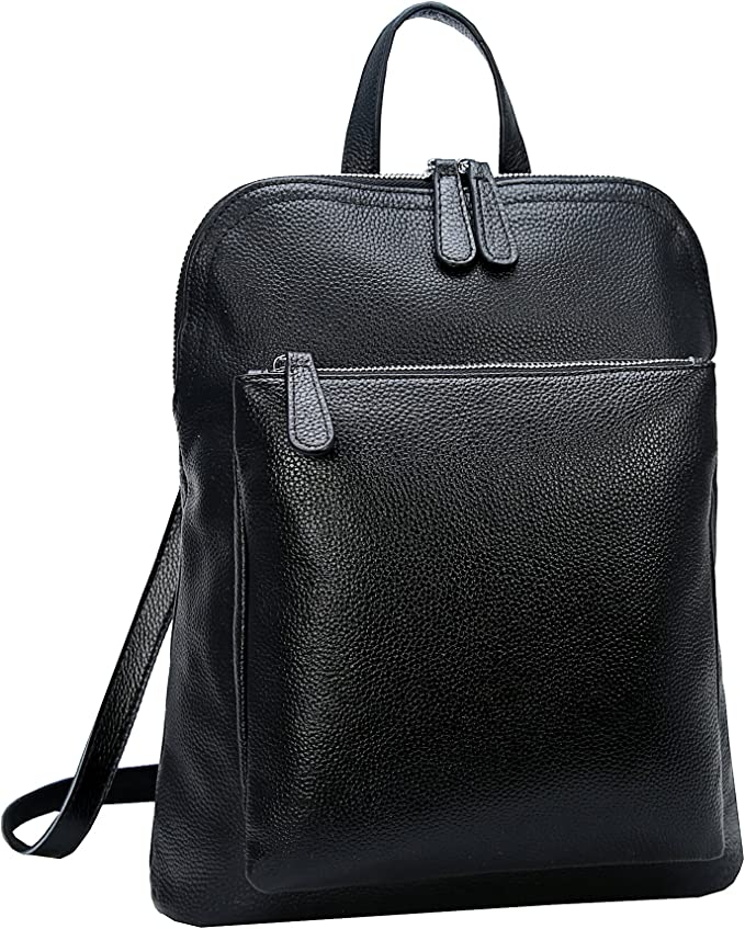 Heshe Women Leather Backpack for everyday use