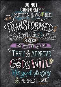 Creative Teaching Press Wall Décor, Religious Romans 12:2 Rejoice Inspire U Poster (2302)