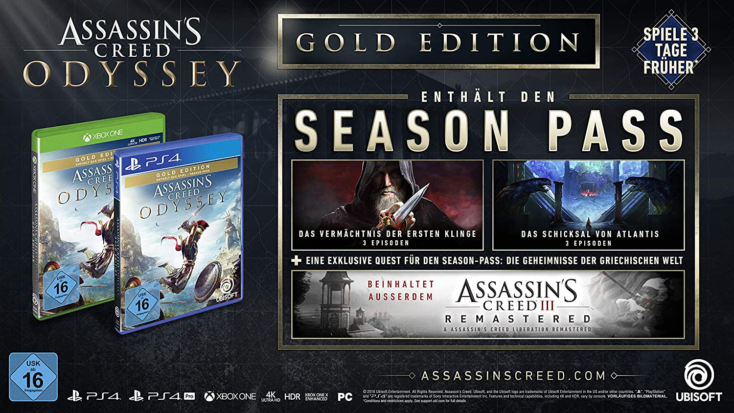 Assassin\'s Creed Odyssey - Gold Edition (inkl. Season Pass ...