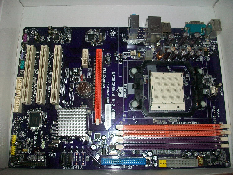 MCP61D ECS-NFORCE6M-A AM2 ATX Vista CERTIFIED //NVRAID//DDR2-800