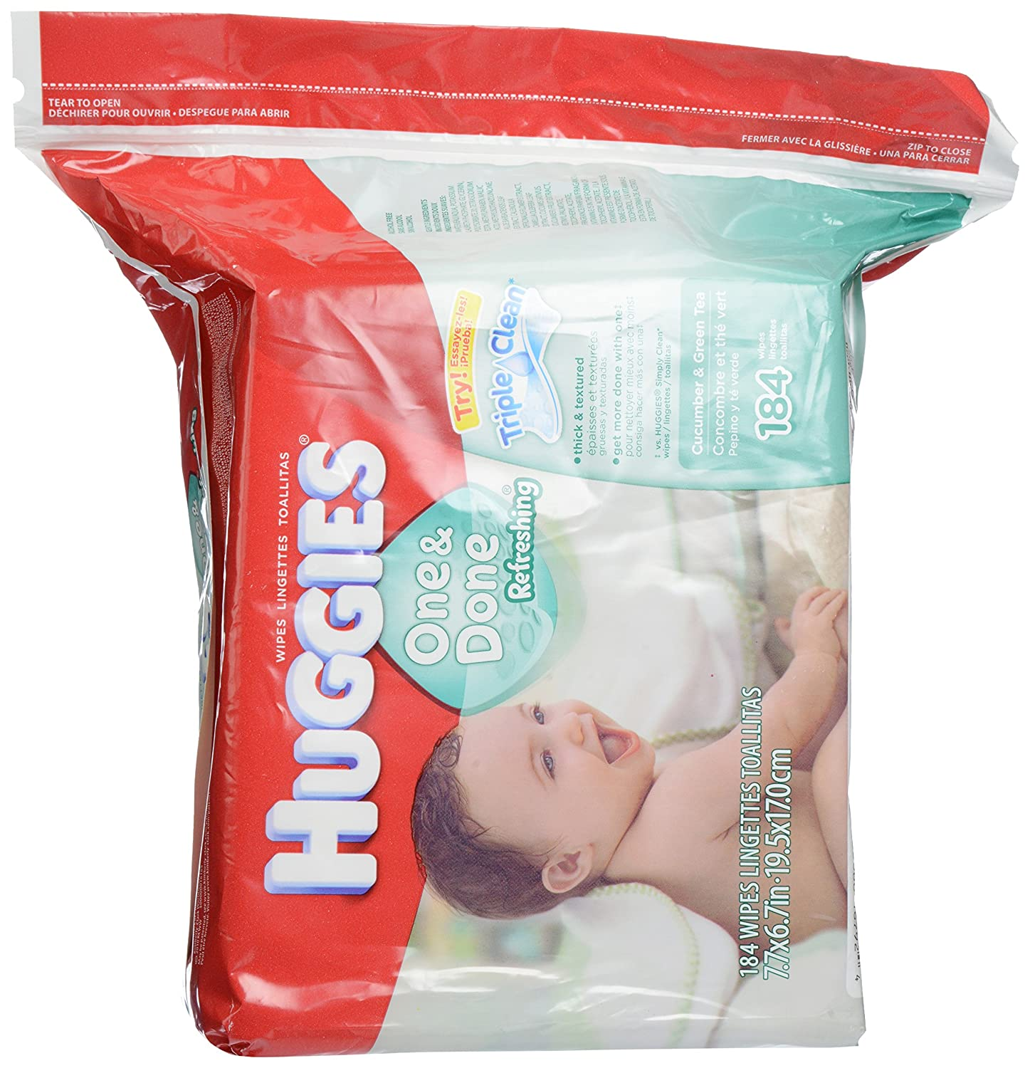 Huggies One & Done Refreshing Baby Wipes Refill, 184 ct: Amazon.com: Grocery & Gourmet Food