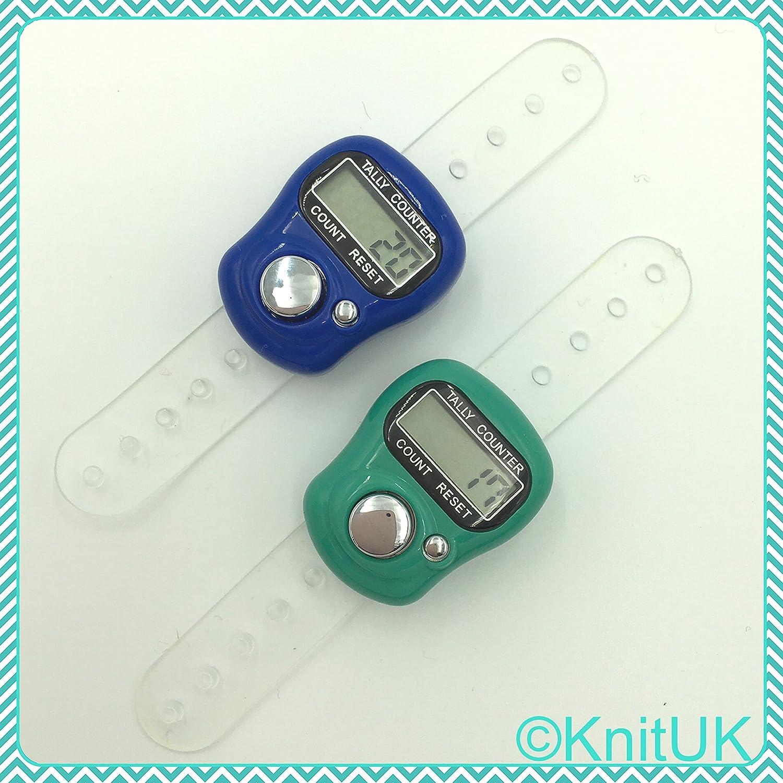 2 Pack Pink /& Purple KnitUK Digital Knitting Row-counter: LCD Tally Counter