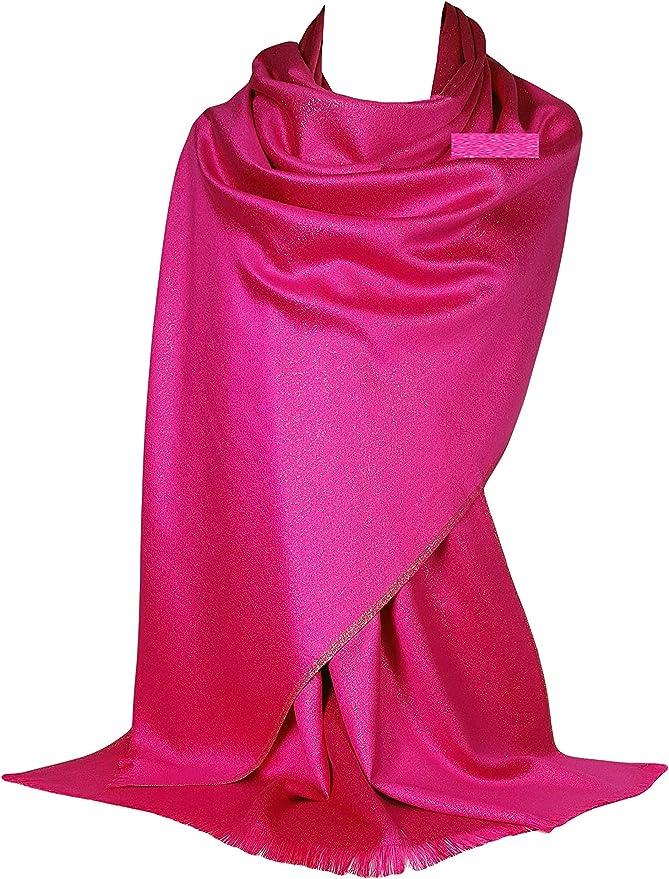 GFM® chal de bufanda estilo pashmina con brillo y brillo (PASH11)