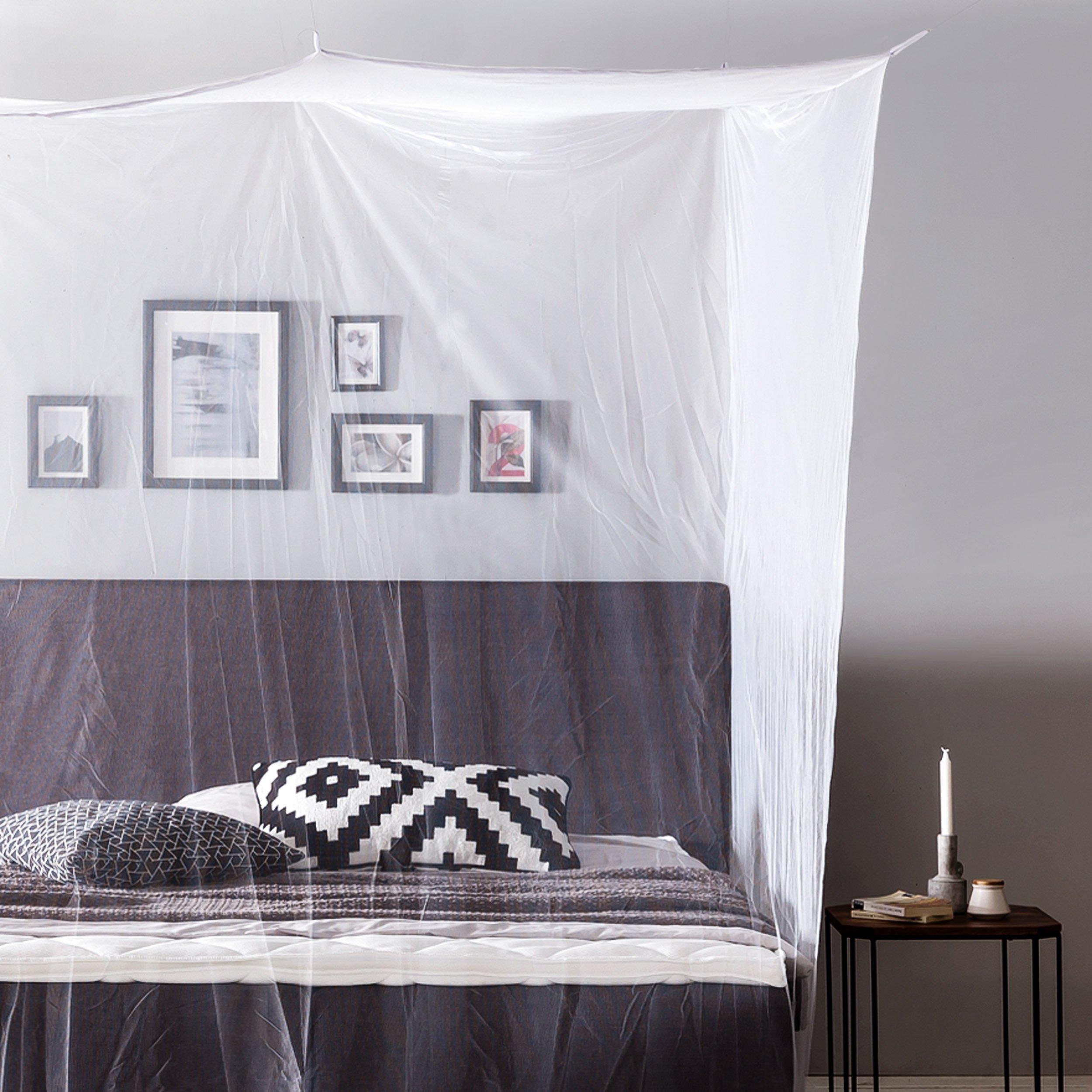 Lumaland Mosquitero cuadrados para Interior y Exterior, Color Blanco, 220 x 200 x 210