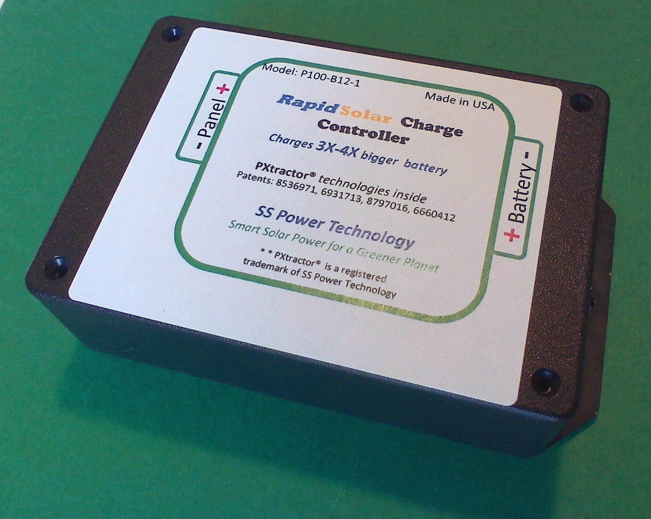 Rapid Solar Charge Controller - Super Solar Charge Controller Charges a 12v Battery 3X-4X Faster Than Any Other Controller - Patented Technology - Fully Automated Operation - Made in USA