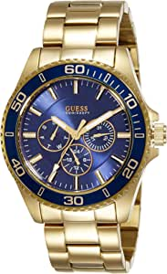 Guess Chaser Men's Blue Dial Stainless Steel Band Watch - W0172G5