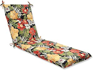 Pillow Perfect Outdoor Clemens Chaise Lounge Cushion, Noir
