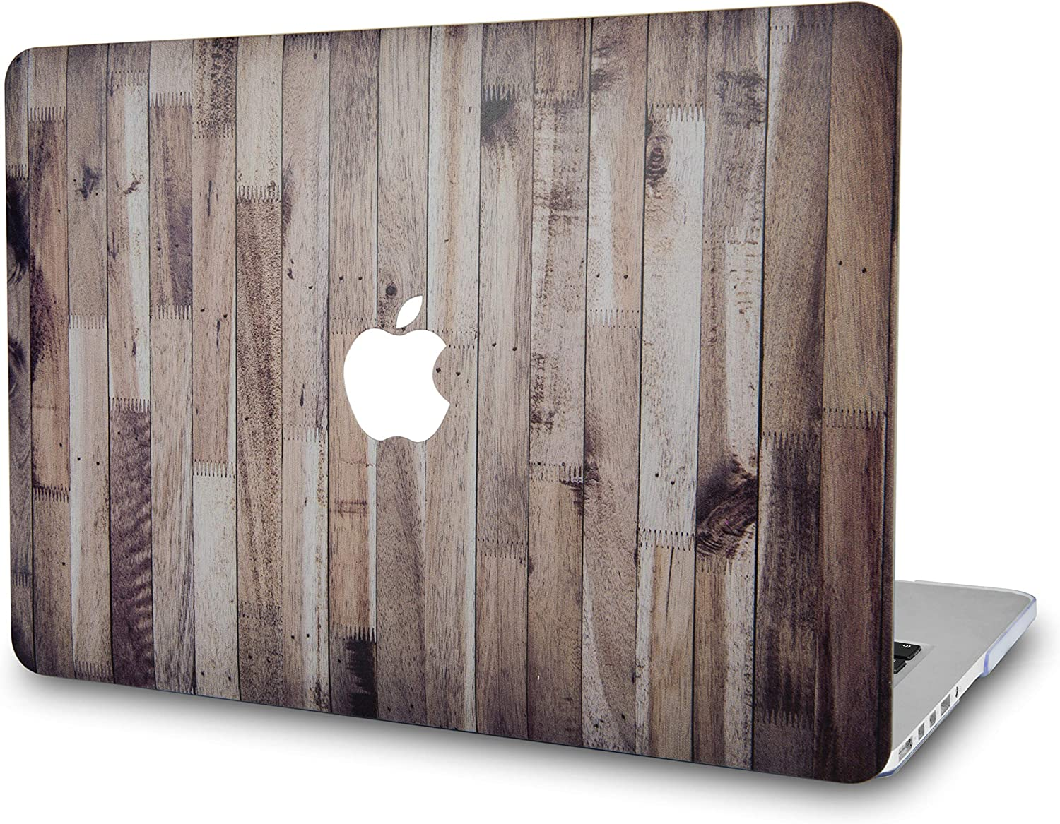LuvCaseLaptopCaseforMacBookAir 13 Inch(2020/2019/2018) A2179/A1932 Retina Display (Touch ID) RubberizedPlasticHardShell Cover (Wooden)