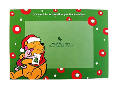 disney pooh christmas cards classic pooh photo holder holiday cards xb69634