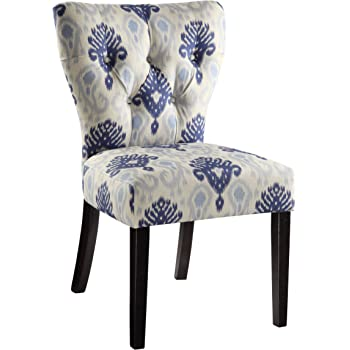 Amazon Com Ave Six Andrew Upholstered Armless Accent