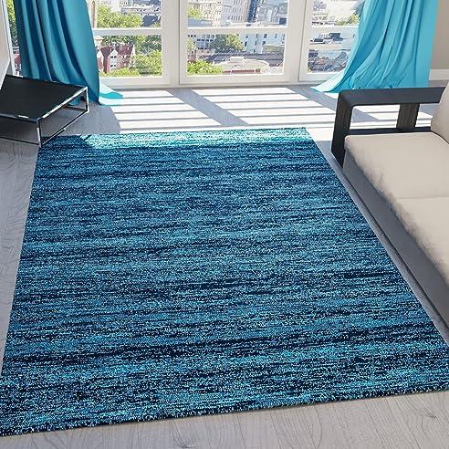 Teppich Kurzflor Wohnzimmer Meliert Mehrfarbig Beige, Braun