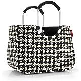 Reisenthel OR7028 fifties - Bolsa para la compra (tamaño grande), diseño de pata de gallo, color blanco y negro