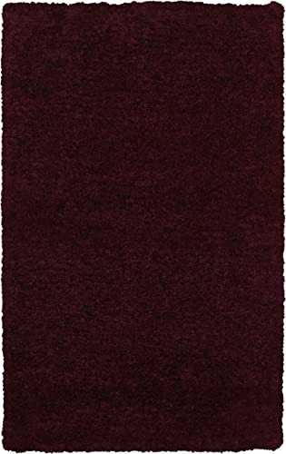 Rizzy Home Commons Collection Polyester Area Rug, 3 6 x 5 6 , Purple Gray Rust Blue Solid