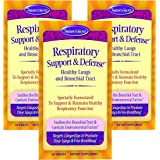 Nature's Secret Respiratory Support & Defense Promotes Healthy Lungs & Bronchial Tract - Natural Soothing 14 Botanical Blend Combats Environmental Factors with NAC, Fenugreek & More - 60 Tablets