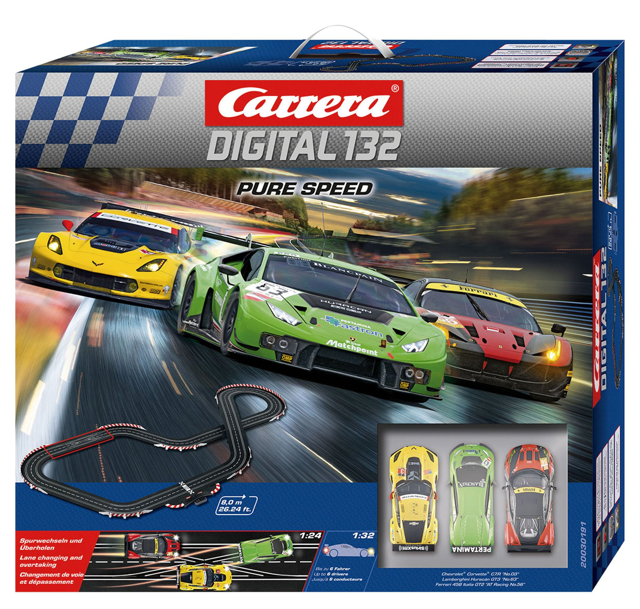 Carrera Digital 132 - Pure Speed Digital Racetrack System