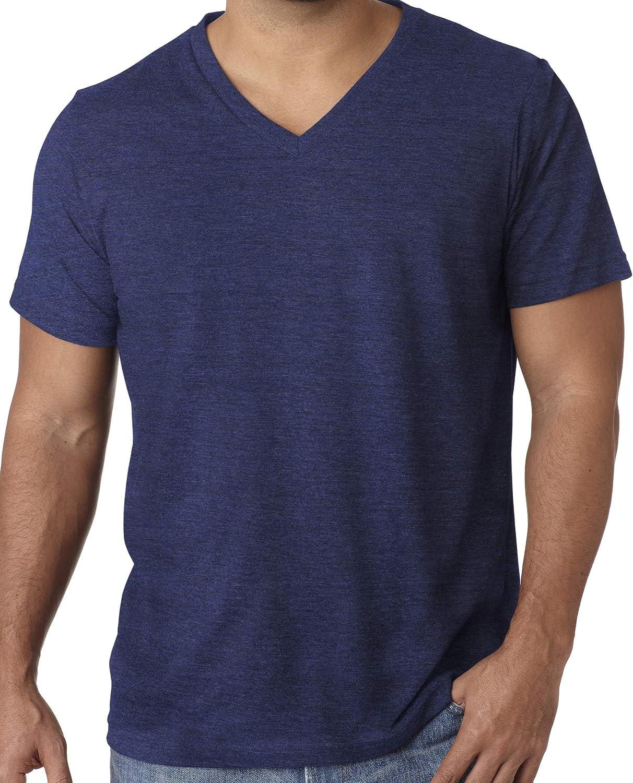 Mens XL, Navy Yoga Clothing For You Mens Tri Blend V-Neck Tee Shirt