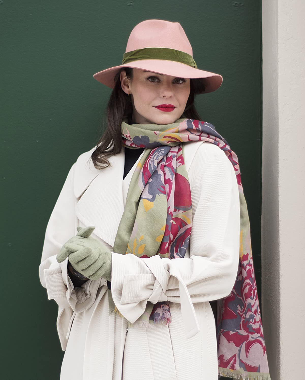 6a591502b73023 Powder Wendy Wool Fedora Hat (Coral): Amazon.co.uk: Clothing