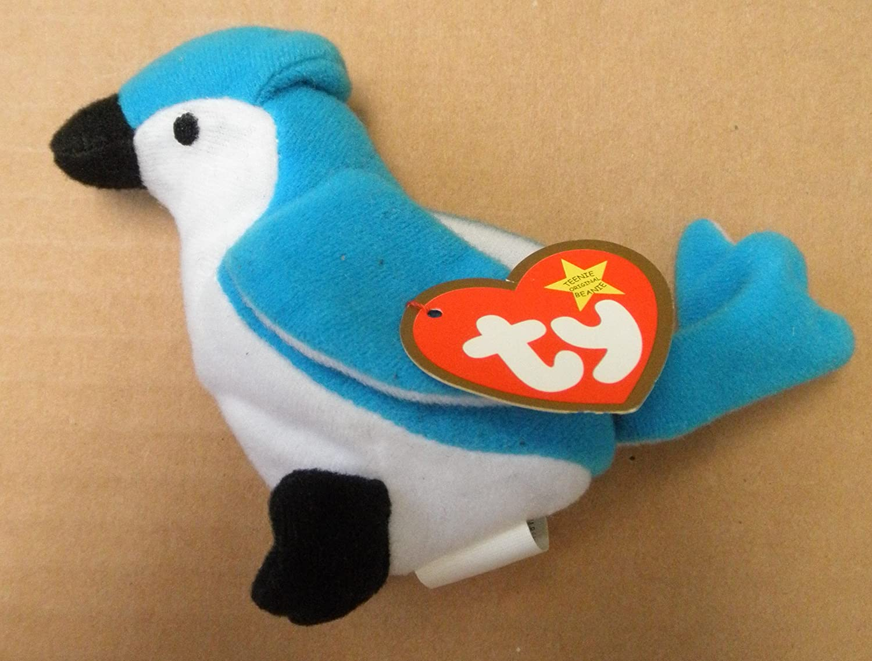7c1abb1e06b Amazon.com  TY Teenie Beanie Babies Rocket the Blue Jay Bird Stuffed Animal  Plush Toy - 4 inches tall - Blue and White  Everything Else